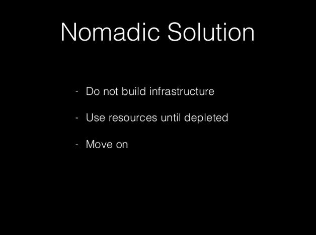 Nomads strategy